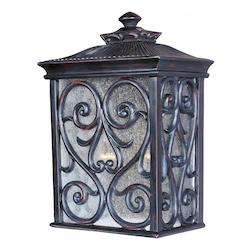 Maxim Two Light Oriental Bronze Seedy Glass Wall Lantern