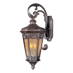 Maxim Three Light Colonial Umber Night Shade Glass Wall Lantern