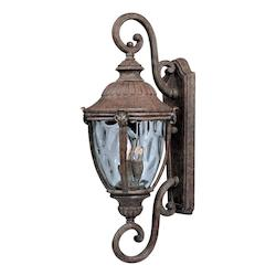 Maxim Three Light Earth Tone Water Glass Glass Wall Lantern