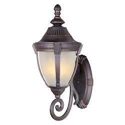 Maxim One Light Empire Bronze Marble Glass Wall Lantern
