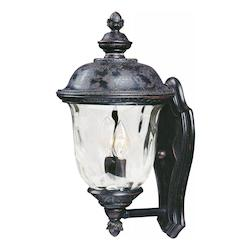 Maxim Two Light Oriental Bronze Water Glass Glass Wall Lantern
