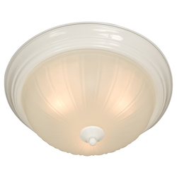 Maxim Two Light White Frosted Glass Bowl Flush Mount