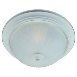 Maxim Three Light Textured White Frosted Glass Bowl Flush Mount