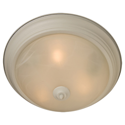 Maxim Three Light Textured White Marble Glass Bowl Flush Mount