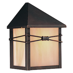 Maxim One Light Burnished Iridescent Glass Outdoor Wall Light
