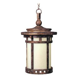 Maxim One Light Sienna Mocha Glass Hanging Lantern