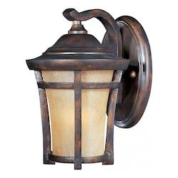 Maxim Open Box One Light Copper Oxide Golden Frost Glass Wall Lantern