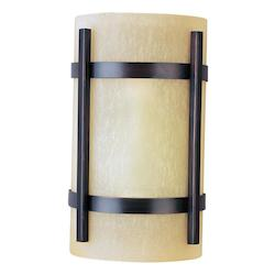 Maxim One Light Oil Rubbed Bronze Wilshire Glass Outdoor Wall Light