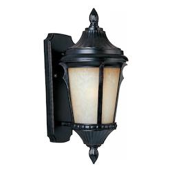 Maxim One Light Latte Glass Espresso Wall Lantern