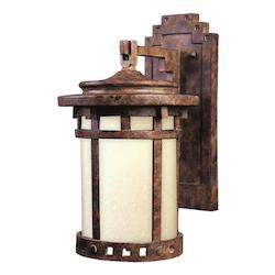 Maxim One Light Sienna Mocha Glass Wall Lantern