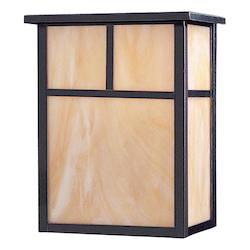 Maxim Two Light Burnished Honey Glass Wall Lantern
