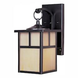 Maxim One Light Burnished Honey Glass Wall Lantern