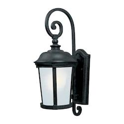 Maxim One Light Bronze Frosted Seedy Glass Wall Lantern