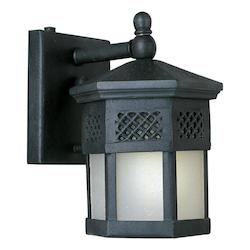 Maxim One Light Country Forge Frosted Seedy Glass Wall Lantern