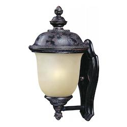 Maxim One Light Oriental Bronze Mocha Glass Wall Lantern