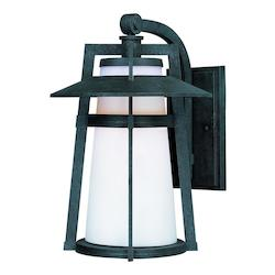 Maxim Satin White Glass Adobe Wall Lantern