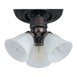 Maxim Three Light Oil Rubbed Bronze Marble Glass Fan Light Kit