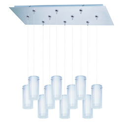 ET2 Frost 10-Light Rapidjack Pendant And Canopy