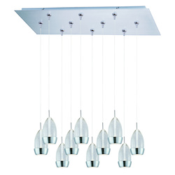 ET2 Luxe 10-Light Led Rapidjack Pendant And Canopy