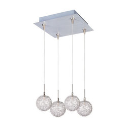 ET2 Starburst 4-Light Rapidjack Pendant And Canopy