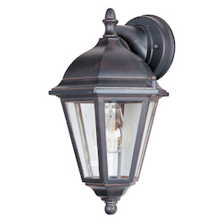 Maxim One Light Empire Bronze Clear Glass Wall Lantern