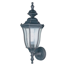 Maxim One Light Rust Patina Seedy Glass Wall Lantern