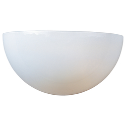 Maxim One Light White White Glass Wall Light