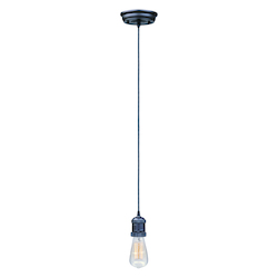 Maxim One Light Bronze Down Mini Pendant