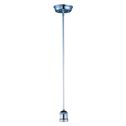 Maxim One Light Polished Nickel Down Mini Pendant