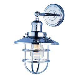 Maxim Mini Hi-Bay 1-Light Wall Sconce W/Bulb