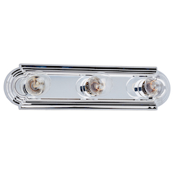 Maxim Three Light Polished Chrome Vanity