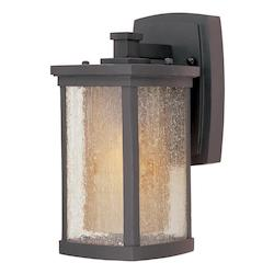 Maxim One Light Bronze Seedy/Wilshire Glass Wall Lantern