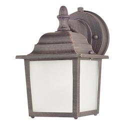 Maxim One Light Rust Patina Frosted Glass Wall Lantern