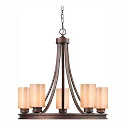 Golden Sovereign Bronze Hidalgo 5 Light Chandelier