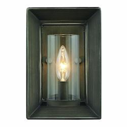 Golden Gunmetal Bronze Smyth 1 Light 6in. Wide Wall Sconce