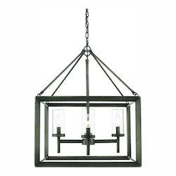 Golden Gunmetal Bronze Smyth 4 Light 1 Tier 21in. Wide Chandelier