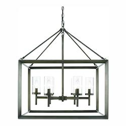 Golden Gunmetal Bronze Smyth 6 Light 1 Tier 26.625in. Wide Chandelier