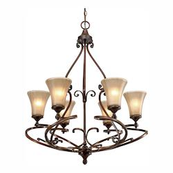 Golden Russet Bronze Loretto 6 Light Chandelier