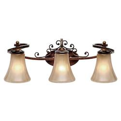 Golden Russet Bronze Loretto 3 Light Vanity