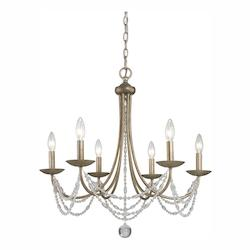 Golden Golden Aura Mirabella 6 Light Crystal Chandelier