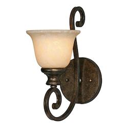 Golden Burnt Sienna Single Light Wall Sconce from the Heartwood Collection