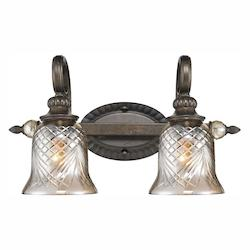Golden Open Box Burnt Sienna 2 Light Up / Down Light Bathroom Fixture