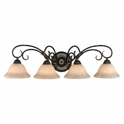 Golden Rubbed Bronze Homestead RBZ 4 Light Bathroom Vanity Light
