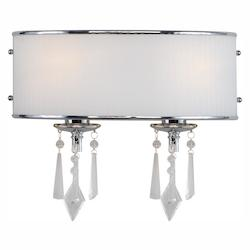 Golden Chrome Two Light Bathroom Fixture from the Echelon Collection