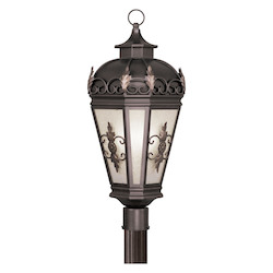 Livex Lighting Bronze Berkshire 3 Light Outdoor Post Light