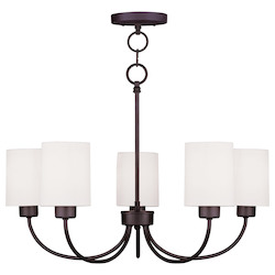 Livex Lighting Bronze Sussex Up Lighting 1 Tier Chandelier With 5 Lights