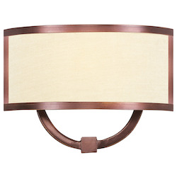 Livex Lighting Vintage Bronze Park Ridge 1 Light Ada Wall Washer