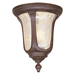 Livex Lighting Imperial Bronze Outdoor Flush Mount