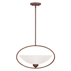 Livex Lighting Vintage Bronze Up Pendant