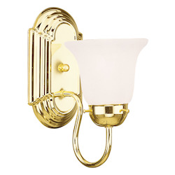 Livex Lighting Polished Brass Bathroom Sconce